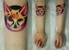 Pinned by Pinafore Chrome Extension #tattoo #color #colour #fox