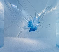 Ice art in ICEHOTEL
