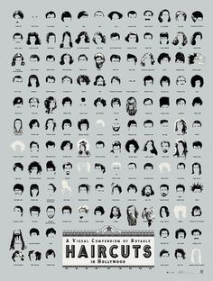 Infographic Of The Day: The Most Famous Haircuts In Movie History | Co. Design #design #infographic #hair #movies