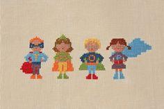 Wee Wonderfuls: Super Langs #super #cross #hero #craft #stitch