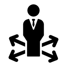 See more icon inspiration related to businessman, decision making, manager, people, arrows and stick man on Flaticon.