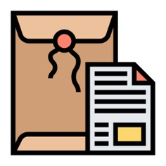 See more icon inspiration related to document, letter, paper, shipping and delivery, files and folders, credential, important, message, envelope and communication on Flaticon.