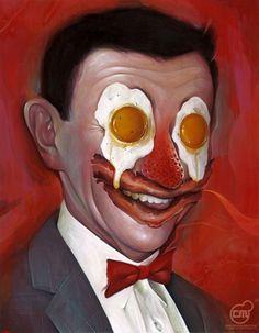 Artwork | Chris B. Murray #illustration #peewee #breakfast #painting