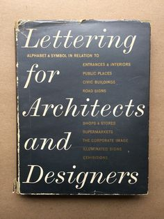 Lettering for Architects and Designers | Flickr - Photo Sharing! #lettering #architect #publication #cover #typography