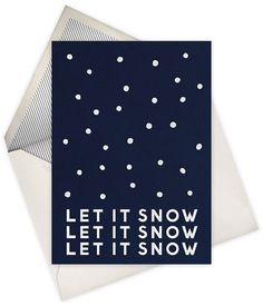 let it snow #illustration #letterpress