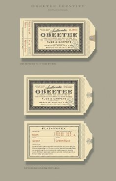 Obeetee Identity | Roseys 2010 #type #logo #mark #card