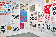 Ten Years of Posters - Experimental Jetset #london #experimental #exhibition #exhibit #jetset #helvetica #dutch
