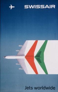 Swissair Poster #swissair #poster