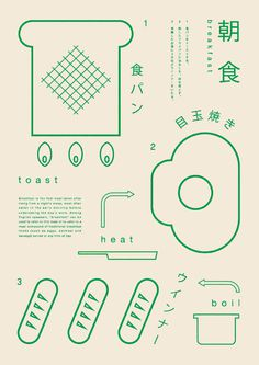 Japanese Graphics: Making Breakfast. Ryo Kuwabara. 2013 #print