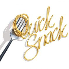 Quick Snack #type #fork #food #spaghetti