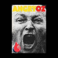 Re:Collection Angry OZ #australian #retro #poster