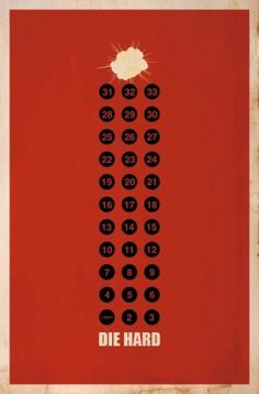 The Art of Matt Owen « These Old Colors™ #die #movie #design #matt #poster #hard #minimalist #owen