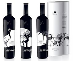 Brilliant Packaging With Illustration | Petshopbox Studio Blog #graphic design #illustration #packaging #wine #black and white #nadie parshi