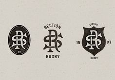 Toulouse SOET Section Rugby on Typography Served #typography #lock #ups