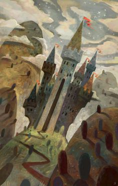 Hilltop Castle - Ken Wong #illustration #fantasy #castle