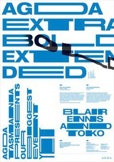 toko agda extrabold poster by toko