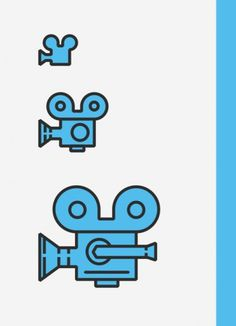 Tom Myers, Graphic Designer #movie #icon #camera #illustration #minimal
