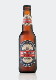 Hawthorn Brewing Co. #logo #branding #packaging #drink #beer #beer packaging #beer label #pilsner
