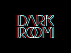 DARKROOM Custom Logo by Urtd http://www.urtd.net/lettering/darkroom