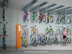 Josta TripleParker bicycle parking system1.jpg (1000×750) #bike
