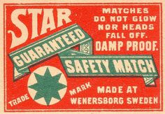 All sizes | suedoises102 | Flickr - Photo Sharing! #typography #vintage #safety matches