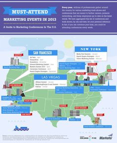 Must Attend Marketing Events in 2013 An Interactive Infographic B2B Marketing #tech #infographic #marketing #business