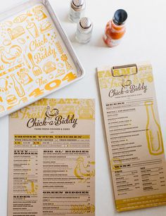 Tad Carpenter via www.mr cup.com #menu #design #branding #restaurant