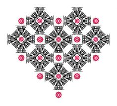 Vector Drawings - February and March on the Behance Network #heart #pattern #pink #black #romantic #cool