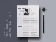 Free Stylish CV/Resume Template with Cover Letter Page
