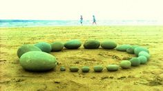 Stonecircle beach land art