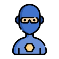 See more icon inspiration related to superhero, hero, superpowers, fictional character, user, boy, avatar, man, person and people on Flaticon.