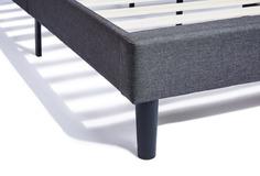 dreamcloud grey bed frame - corner view