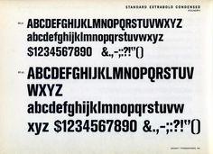Akzidenz-Grotesk Extrabold Condensed type specimen #type #specimen #typography