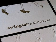 Dribbble - Swingset Imagination Business Cards by Benjamin Friesen #emboss #business #card #imagination #collateral #swingset