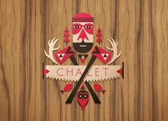 Target Chalet : Winter X Games 15 - Aaron Melander Design #outdoors #texture #wood #illustration #target #chalet #winter
