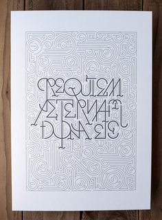 Image of Requiem Aeternam Dona Ets Wete #tipography