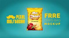 Free Photorealistic Chips Bag Mockup