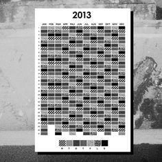 2013 Calendar #calendar #design #graphic