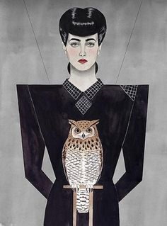 Paul X. Johnson — Lost At E Minor: For creative people #rachel #owl #bladerunner #illustration #x #johnson #paul