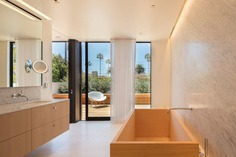 bathroom, modern house, EYRC Architects