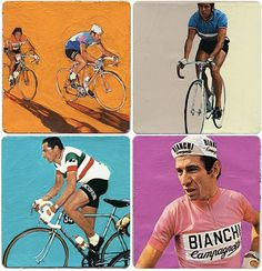 NÖ Gallery | Rapha #straffon #james #art #paintings #cycling