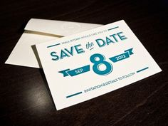 Dribbble - Save The Date Cards by Niall Staines #stationarey #print #letterpress #typography
