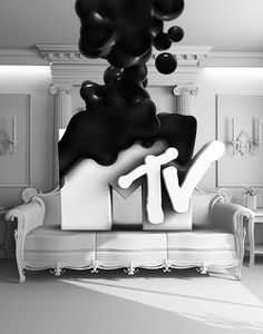 New Works. on the Behance Network #white #black #illustration #mtv #music