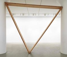 That Board - Virginia Overton #wooden #triangle #sculpture #installation