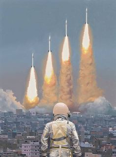 Space age, Scott Listfield #missile #astronaut #fi #sci #launch #space #rocket #ignition