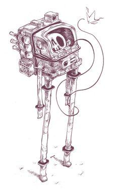 t wei illustrations #illustration #astronaut
