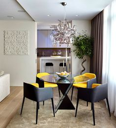 Luxury Moscow Apartment by Alexandra Fedorova - dining area #interior #dining #design #decor #home #area #table