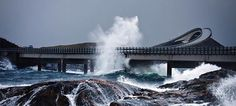 Dangerous and Beautiful Road - Atlantic Ocean Road, Norway. #atlanticoceanroad #Norway #travel #instatravel #instatraveling
