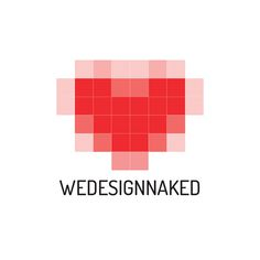 Logo for We design naked on Behance #pixel