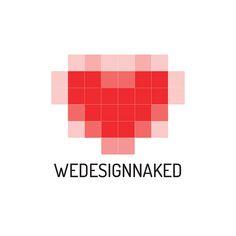 Logo for We design naked on Behance